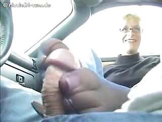 Car nylon footjob