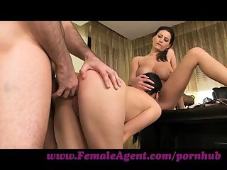 Femaleagent shy girl loves anal creampies