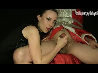 Mr and mrs santa s tied handjob bedroom s secrets sylvia chrystall hd