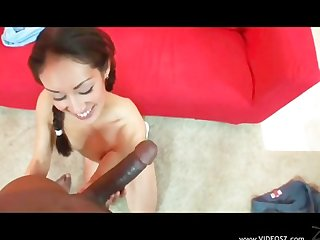 White girl black guy creampie