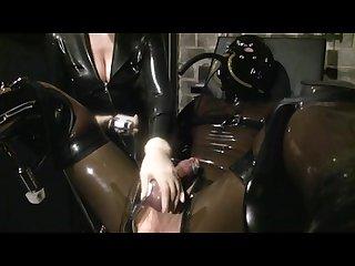 Electro cock orgasm latex femdom