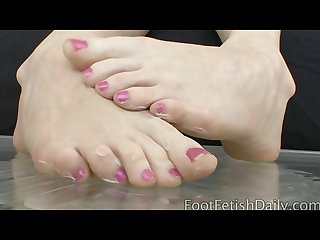 Nikki rhodes teasing with her perfect toes