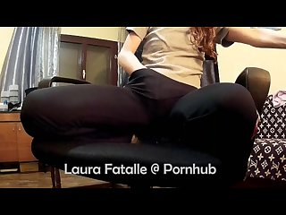 Naughty step sister caught masturbating while watching porn Laura fatalle