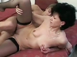 Czech mature lady with young lover