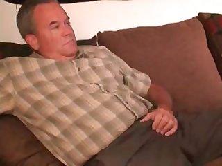 Stroking dad