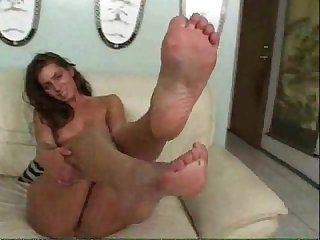 Naomi russell teases with her feet and gets anal