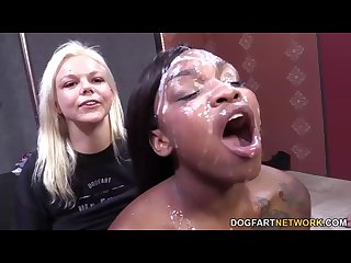 Nikki ford gets a buffet of white dick