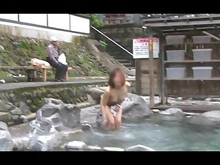Nao nude flashing at public bath