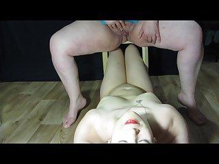 Russian milf lesbian pissing on me