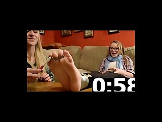 Feet Tickling of two blonde teens
