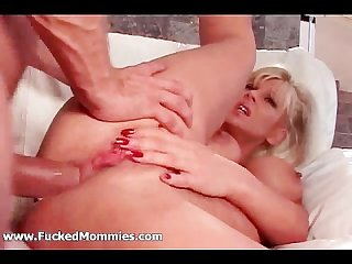 Mommy gets butt fucked and huge tits jizzed