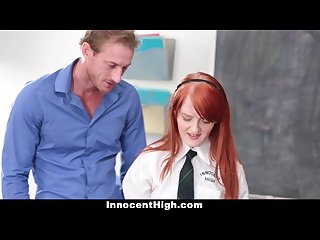 Innocenthigh young cute redheaded rides her teachers hard cock