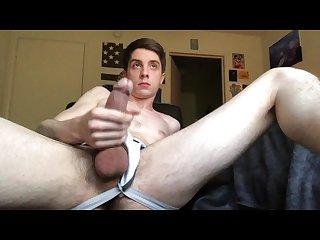 College jock watches favorite porn