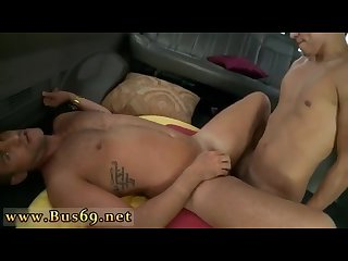 Young straight black guy gay sex dick on the baitbus