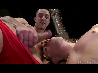 Cock virgins horny wrestlers at each other s dicks