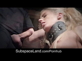 Sexual desperation and bondage satisfaction in slave bdsm submission