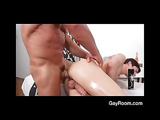 Gayroom alex gets cock pumped