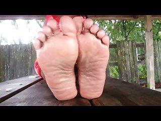 Ebony wrinkled soles