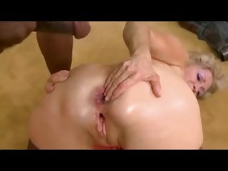 Blonde cougar takes anal fucking from bbc