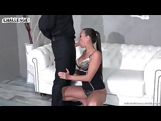 Mea melone enjoy well brutal ass fuck with masked gentleman on the sofa