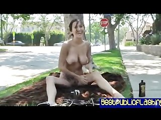 Best public flashing video april o