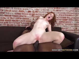 Madelyn rose gets her ass reamed by a bbc