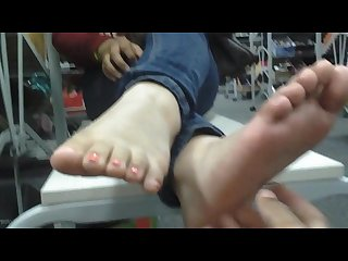 Latina teen feet