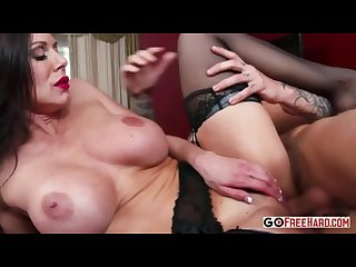 Busty milf kendra lust in a sexy lingerie fucked by a young guy