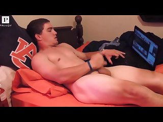 Hot college boy jerks off for cash