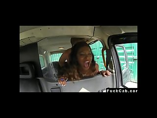 Taxi driver fucks a black lady