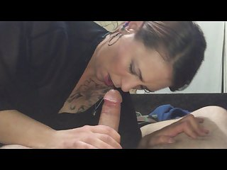 Horny tattooed wife nice blowjob hard fuck
