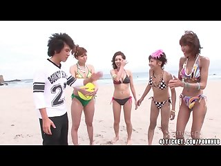 Four japanese volleyball girls have wild orgy uncensored jav