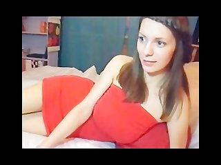 Brunette teen with huge breasts webcam show
