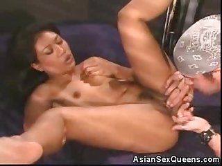 Hot asian honey cock sucks