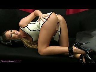 Natalia forrest in white latex dress