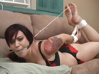 Bound borlesque hogtied