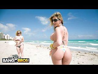 Bangbros sara jay and krystal star show off their big asses at the beach