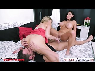 Bisexual babes audrey bitoni and Katie kox gets big tits fucked