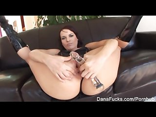 Dana gets her ass stuffed with huge black cock