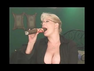 Crazy huge cigar and big mature tits