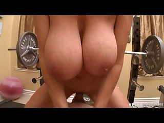 Kelly madison kelly works out with a big cock in the gym