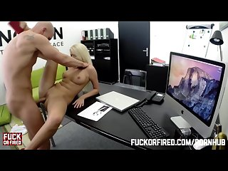 Wannabe secretary fucks to get hired