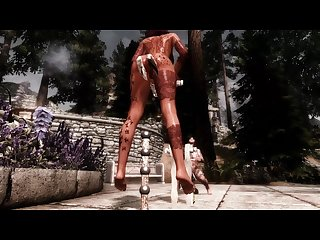 Anal pendulum game Skyrim animation