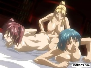 Hentai futanari ceremony shemale with double cock fucks girls uncensored