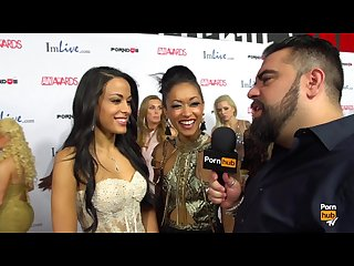Pornhubtv layla Sin skin diamond red carpet 2015 avn interviews