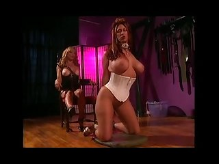 2 big tits chicks into bondage bdsm and lesbian action