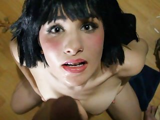 18 allora ashlyn pov sucks cock and gets a huge facial
