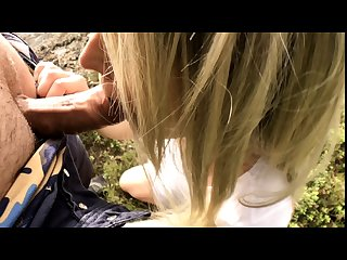 Blonde girl fucked doggystyle outdoors and cums hard myswedishorgasm