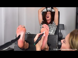 Tickling submission oiled extra tickled feet