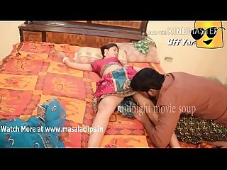 Husband romance with wife in saree after party